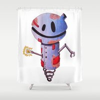 robot Shower Curtains featuring Robot by Ciotti