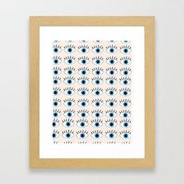 Blue evil eye Framed Art Print