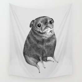 Sweet Black Pug Wall Tapestry