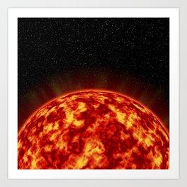 Stars and Sun Perspective Art Print