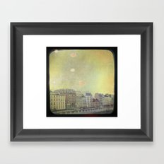 Paris Row Framed Art Print