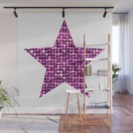 Sparkling Star,pink Wall Mural