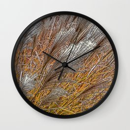 MISCANTHUS GRASS YAKU JIMA IN AUTUMN  Wall Clock