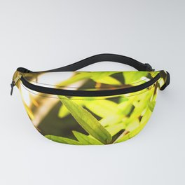 Simple and focused green leaves are shining Fanny Pack