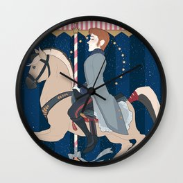 Carousel: I Love Crazy Wall Clock