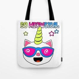 So Meowgical Unicorn Cat Tote Bag