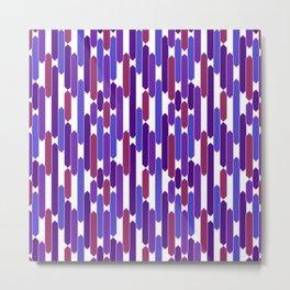 Modern Geometric Tabs in Berry Colors Metal Print