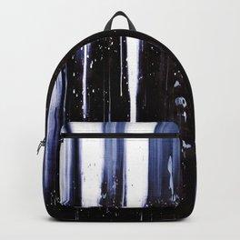 Abstract artwork #22/1 - Ocean waves - Sea waves - Dark Blue Waters - Indigo Abstract Painting Backpack