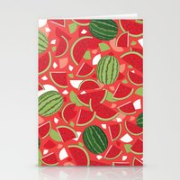 watermelon Stationery Cards featuring Watermelon by Ornaart