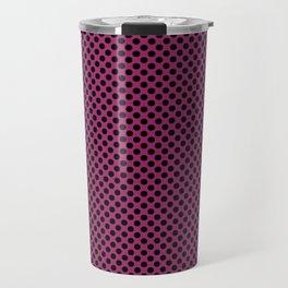 Festival Fuchsia and Black Polka Dots Travel Mug