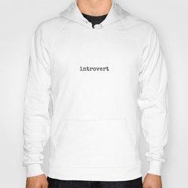 introvert - Lowercase - Black Hoody