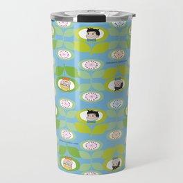 mabo & jimmy garden - blue Travel Mug