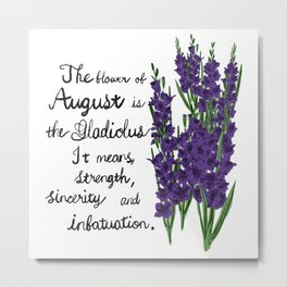 Gladiolus - Birth Month Flower for August Metal Print
