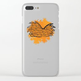 Musical Football Head Clear iPhone Case