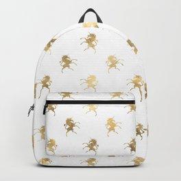 Gold Unicorn Pattern Backpack