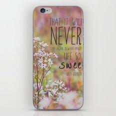 the sweet life  iPhone & iPod Skin