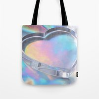 hologram Tote Bags featuring Glass Heart by Varvara Repnikova