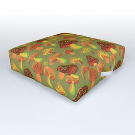 Mushroom Print in 3D Outdoor Floor Cushion