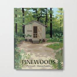Pinewoods Cabin Metal Print