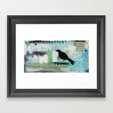 Blackbird singing Framed Art Print