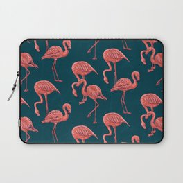 Living coral flamingo pattern Laptop Sleeve