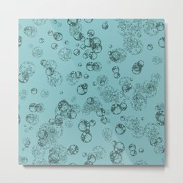 Arabidopsis protoplast cells microscopy pattern teal Metal Print