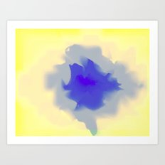 Unfurled Yellow Art Print