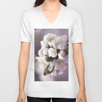 cherry blossom V-neck T-shirts featuring Cherry blossom by LoRo  Art & Pictures