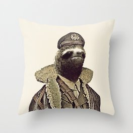 LIKE A SLOTH. Throw Pillow