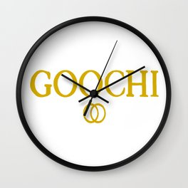 Goochi adam ellis gold Wall Clock