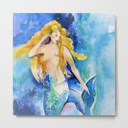 Celeste Mermaid by Kathy Morton Stanion Metal Print