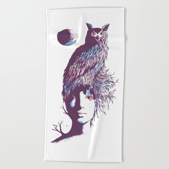 Night Watcher Beach Towel