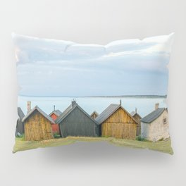 Fishing huts hutte 7 Pillow Sham