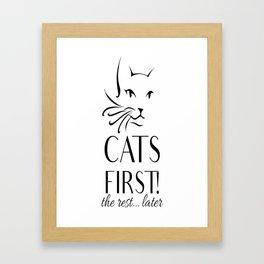 Cats first Framed Art Print
