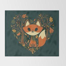 Foxy Heart Throw Blanket