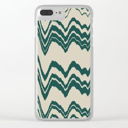 green peppermint Clear iPhone Case
