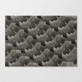 Rhino Heads Canvas Print