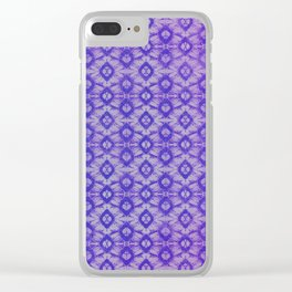 blue tie dye in small repeat Clear iPhone Case