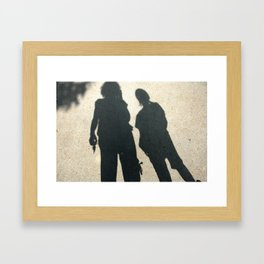 Shadow Mother, Shadow Child Framed Art Print