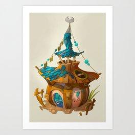 Mushroom House Art Print