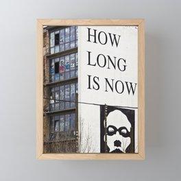 HOW LONG IS NOW - EAST BERLIN Framed Mini Art Print