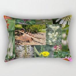 Around the Flower Garden Rectangular Pillow