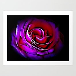Rose Fractalius Art Print