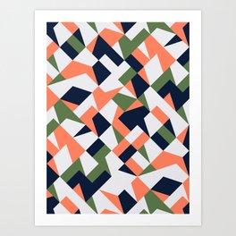 Geometric shapes retro Art Print