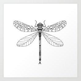 Bug - dragonfly Art Print