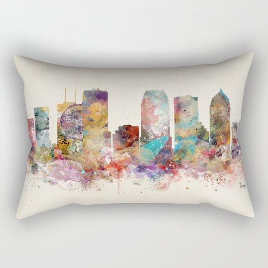 tampa florida skyline Rectangular Pillow
