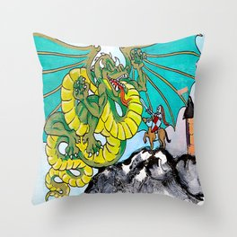 facing your fear (square) Throw Pillow