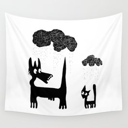 It's Raining Cats and Dogs Wall Tapestry