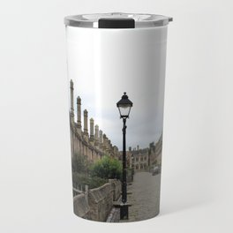 Wells Cathedral Classic/historic/old houses and side street in England Travel Mug