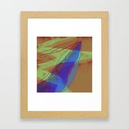 A Well Used Slate Framed Art Print